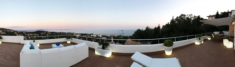 Panoramablick Terrasse