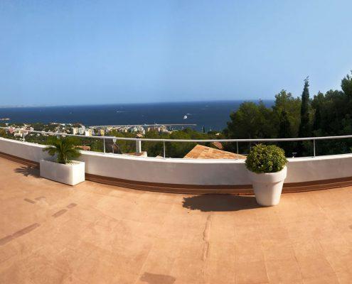 Panoramaausblick Terrasse